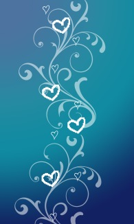 Blue Gradient Hearts
