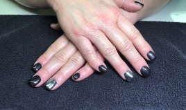 Sculptured Gel Nails with Chrome Accent Nail